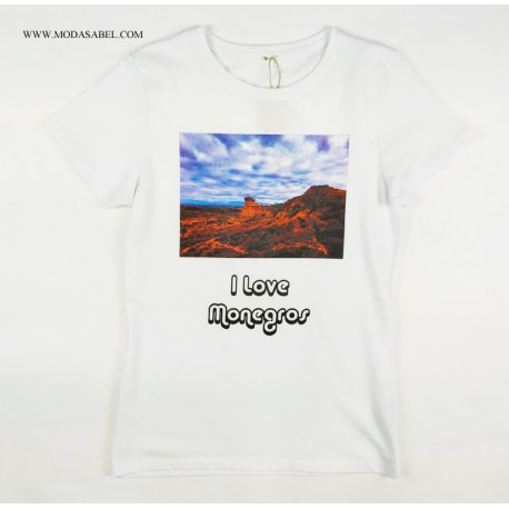 Camiseta mujer I lLOVE MONEGROS
