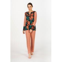 Pijama Señoretta combinado estampado floral