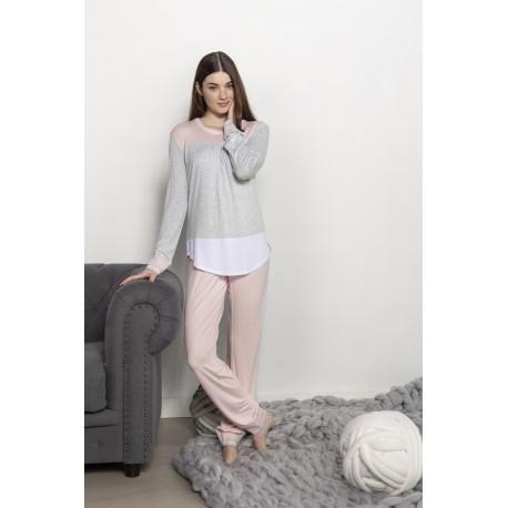 Pijama Señoretta combinado puños elásticos