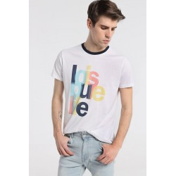 Camiseta de LOIS Hombre en tono Blanco con Algodón