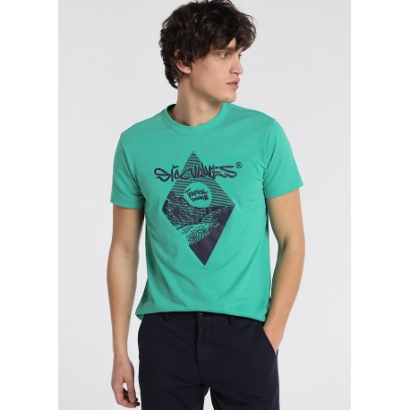 Camiseta hombre tropical Sixvalves